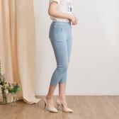 【中大尺碼】MIT蕾絲口袋牛仔中褲