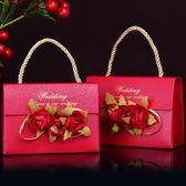 婚禮個性喜糖袋手提創意喜糖盒歐式立體花朵紙質喜糖袋 婚慶用品    琉璃美衣