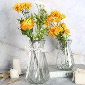歐式透明玻璃花瓶 干花插花玻璃瓶彩色鮮花瓶客廳樣板間花瓶擺件   居家物語
