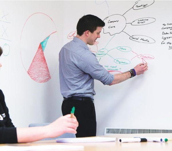 【60x200cm白板貼/黑/綠板貼】可移除 牆貼 兒童塗鴉 教學 培訓 辦公 軟白板 黑/綠板送粉筆