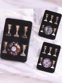 美甲工具 KaSi美甲練習甲片托水晶假指甲托強磁合金色卡展示架美甲工具套裝 星河光年