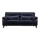 【歐雅系統家具】萊利義大利牛皮沙發-三人座-湛藍 / 現成沙發 / 牛皮沙發/ 三人沙發 / 沙發
