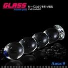後庭塞 SM情趣用品 GLASS-琉璃魔珠-玻璃水晶後庭冰火棒(Anus 9) +潤滑液1包