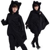 【萬聖節】萬圣節 動物蝙蝠 兒童萬聖節服裝 萬聖節服裝 兒童連體衣披風舞演出服