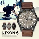 【最新作】NIXON THE SENTRY Leather 男女兼用/時尚軍風/防水/A105-2687