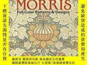 二手書博民逛書店William罕見Morris Full-color Patterns And Designs (pictoria