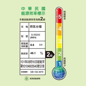 櫻花 SAKURA 二口小面板易清檯面爐 黑色強化玻璃款 G2522G(NG1) [天然瓦斯]
