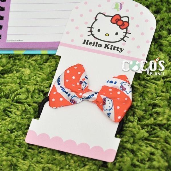 正版 HELLO KITTY KT 凱蒂貓 蝴蝶結 髮束 髮圈 髮飾 立體髮束 紅色款 COCOS VD062