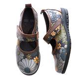 (橡膠底)娃娃鞋/舒適內裡-THE ONE 氣墊鞋 (全牛皮)-V11609 咖啡金