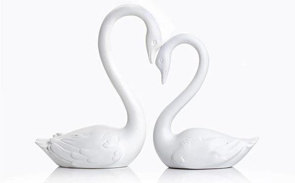 天鵝擺件 情侶天鵝家居飾品 時尚創意工藝品擺設