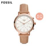 FOSSIL Q Neely 玫瑰金皮革指針式智慧手錶 女 FTW5007
