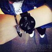 青少年手錶男初中學生韓版簡約時尚個性潮流情侶皮帶休閒女石英錶