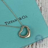BRAND楓月 TIFFANY&CO. 蒂芬妮 925純銀 愛心 鏤空 銀鍊 細鍊 項鍊 銀飾 配件 飾品