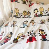 毛毯 出口美國卡通印花小毯子辦公室空調午睡毯珊瑚絨幼兒園毛毯毛巾被·夏茉生活
