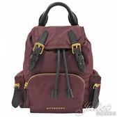 茱麗葉精品【全新現貨】BURBERRY 4075970 The Rucksack 側背後背兩用包.酒紅