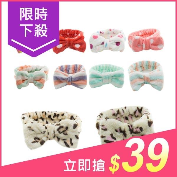 珊瑚絨立體大蝴蝶結髮帶(1入) 【小三美日】款式隨機出貨 原價$59
