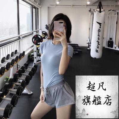 運動上衣 運動上衣女夏季顯瘦健身短袖速幹衣跑步網紅T恤緊身瑜伽服-預熱雙11