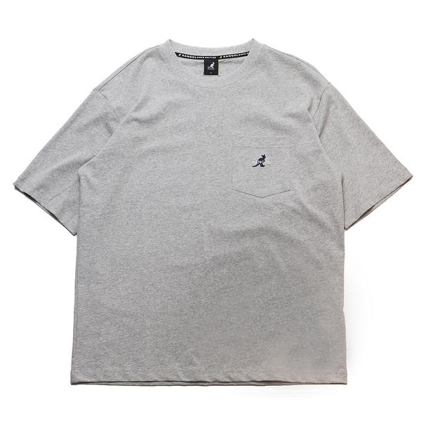 KANGOL 短袖 短T 灰 胸前口袋 袋鼠 棉 男 (布魯克林) 6021100812
