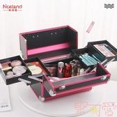 化妝箱手提大容量化妝品收納盒美甲美睫紋繡工具箱【聚可愛】