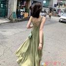 露背洋裝夏季吊帶設計感小眾外穿連身裙女小個子露背收腰顯瘦氣質法式性感 愛丫 免運