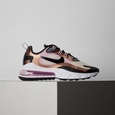 Nike Air Max 270 React 女鞋 粉金 氣墊 舒適 避震 簡約 休閒鞋 CT1833-100