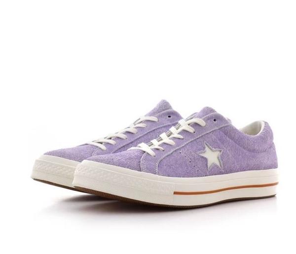 CONVERSE-One Star Cali Suede 男女款紫色休閒情侶鞋-NO.164218C