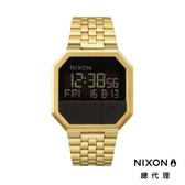NIXON RE-RUN 方形電子錶 金 潮人裝備 潮人態度 禮物首選