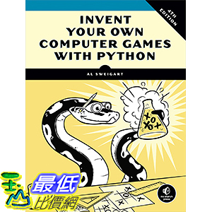 [106美國直購] 2017美國暢銷兒童書 Invent Your Own Computer Games with Python