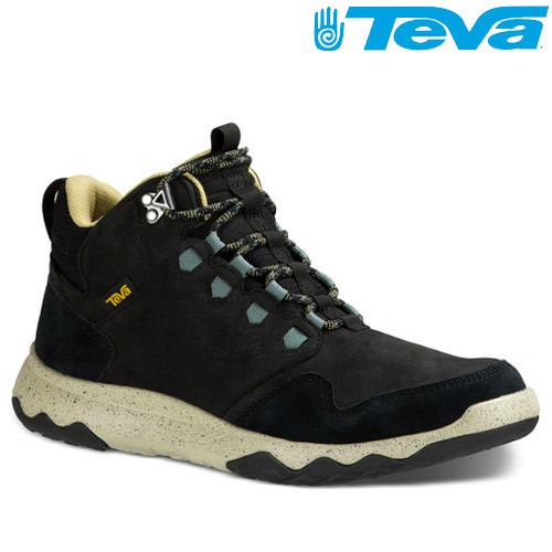 TEVA 頂級全皮超輕量科技大底中筒防水健走登山鞋ARROWOOD LUX MID WP - 黑