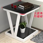 茶几 小簡約迷你小戶型客廳正方形沙發邊几角几小方几小方桌子T 4色