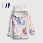 Gap嬰兒 Logo紮染拉鍊連帽上衣 681580-彩色紮染