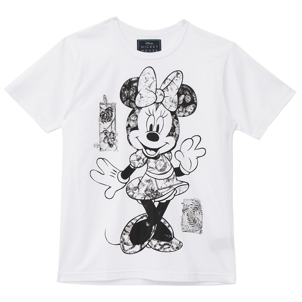 [Disney聯名限量款]Posing 中性短袖圖樣T恤(白)-Daniel Wong狂野夜想系列