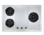 【甄禾家電】櫻花SAKURA 瓦斯爐爐具G2633S 三口大面板易清檯面爐限大台北免運不鏽鋼G2633S