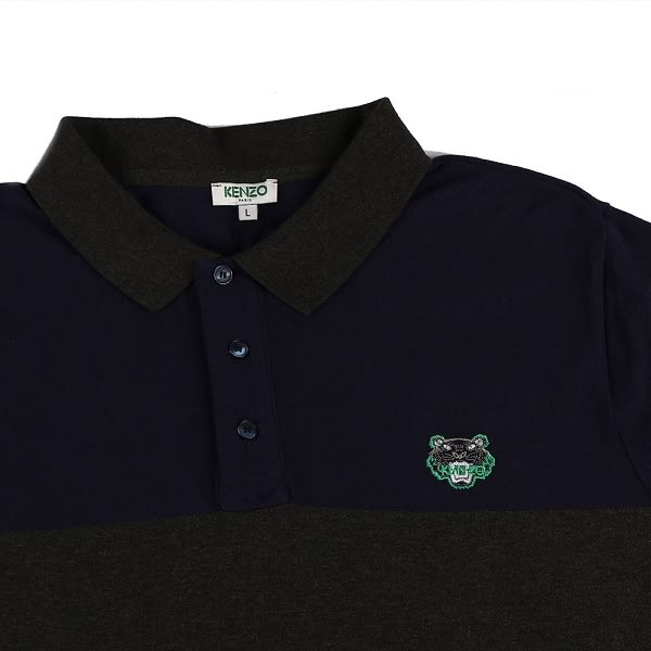 【KENZO】POLO MAN 短袖上衣(灰黑) F655PO0174BB 77