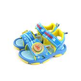 麵包超人 涼鞋 魔鬼氈 童鞋 藍色 中童 AMKT90396 no665