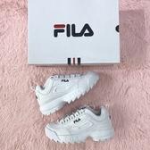 Kumo shoes FILA DISRUPTOR 2 復古 白深藍 經典LOGO 鋸齒鞋 韓國 限定