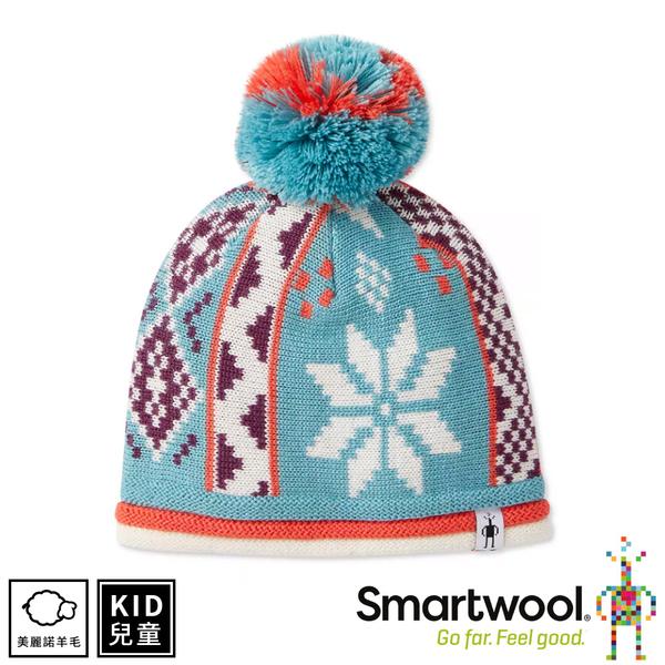 【SmartWool 美國 孩童冬日雪花毛帽《尼羅河藍》】SW018022/針織帽/毛線帽/羊毛帽