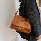 側背包 休閒百搭女士單肩大容量包包女2021流行新款潮時尚網紅斜挎小方包【快速出貨八折搶購】