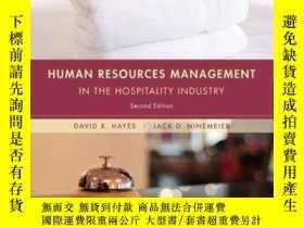 二手書博民逛書店Human罕見Resources Management in the Hospitality Industry,
