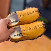 男童軟底皮鞋休閒豆豆鞋