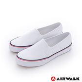美國AIRWALK(女)  小藍標 經典百搭基本直套懶人休閒鞋-白