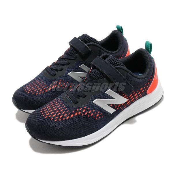 New Balance 慢跑鞋 Fresh Foam Arishi V3 Wide 寬楦 藍 橘 中童鞋 運動鞋【ACS】 YAARIIR3W