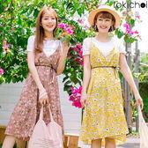 東京著衣-多色陽光女孩碎花兩件式洋裝(180869)