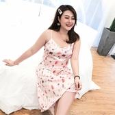 【YPRA】吊帶裙睡衣夏天2020新款家居連身裙減齡大碼女裝