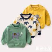 寶寶秋裝上衣兒童衛衣男童新品上市春秋新款女童卡通小象童裝嬰兒衣服