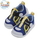 《布布童鞋》Combi黃藍色Core_S成長機能學步涼鞋(12.5~18.5公分) [ S1F1BLB ]