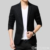 新款男士單西服男士上衣商務休閒毛呢羊毛小西裝男韓版修身外套潮  圖拉斯3C百貨