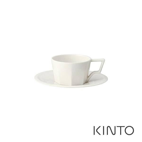 日本KINTO OCT八角濃縮咖啡杯盤組80ml (白)