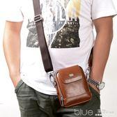 韓版迷你男包單肩包男士小包包時尚腰包男小包運動商務休閒小背包 深藏blue