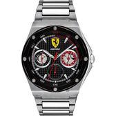 Scuderia Ferrari 法拉利 奔馳日曆手錶-黑x42mm 0830535